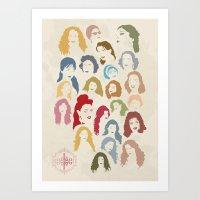 arab Art Prints featuring Arab Divas by QatatoPRINTS