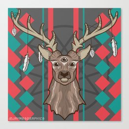 Three Eyed Buck Canvas Print