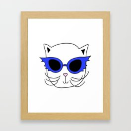 Cat Bat Sunglasses Framed Art Print