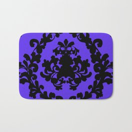 Victorian Damask Purple and Black Bath Mat