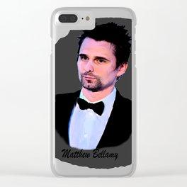 matthew bellamy 006 Clear iPhone Case