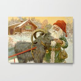 """The Sled Goat"" by Jenny Nystrom Metal Print"