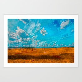 Yellowstone Plain Art Print
