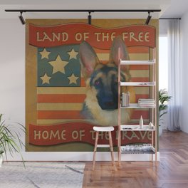 Home of the Brave Wall Mural