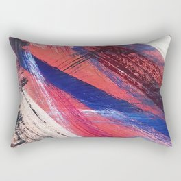 Los Angeles: A vibrant, abstract piece in reds and blues by Alyssa Hamilton Art Rectangular Pillow