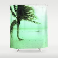 palm Shower Curtains featuring Palm by Julia Aufschnaiter