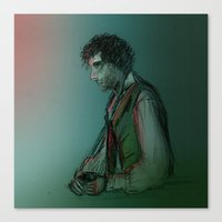 grantaire Canvas Prints featuring Grantaire by Flávia Marques