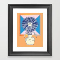 flower vase Framed Art Print