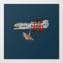 Floating by the Torii Gate Canvas Print