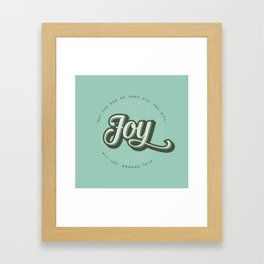 May the God of Hope Fill You With All Joy Framed Art Print