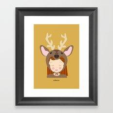 Like a deer.. Framed Art Print