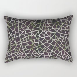 Crackle Magenta Suede Rectangular Pillow