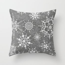 Winter Snowflakes Throw Pillow