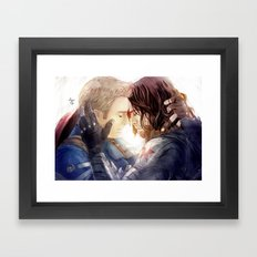 Stay, stay (with me) Framed Art Print
