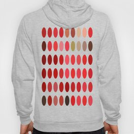 Mottled Red Poinsettia 1 Ephemeral Dots Hoody
