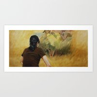 degas Art Prints featuring Looking at Degas by Helena Hsieh