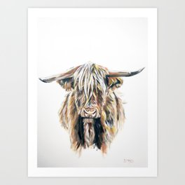 HIGHLAND BULL // STAY WILD Art Print