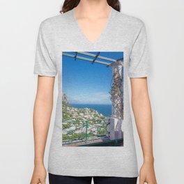 Capri View Unisex V-Neck