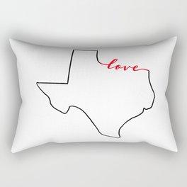 Home Sweet Home - Texas - Love Rectangular Pillow