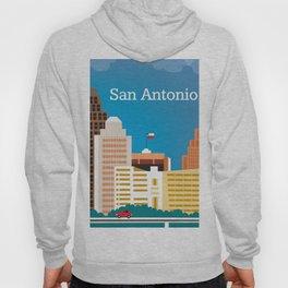 San Antonio, Texas - Skyline Illustration by Loose Petals Hoody