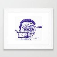 salvador dali Framed Art Prints featuring Salvador Dali by Black Magic Woman