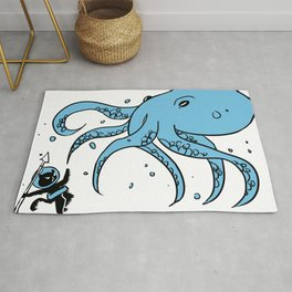 Deep Sea Battle Rug