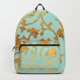 Golden Damask pattern Backpack