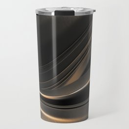 Dark Gold Abstraction Travel Mug