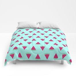 Watermelon Turquoise Comforters