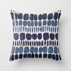 Painted Stones-Indigo Throw Pillow