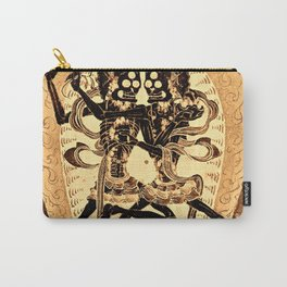 Citipati Tibetan Skeleton Lords Gold Carry-All Pouch