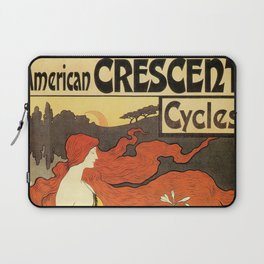Vintage American art nouveau Bicycles ad Laptop Sleeve
