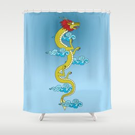 Dragon of the Himalayas Shower Curtain