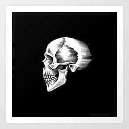 ye olde skull Art Print
