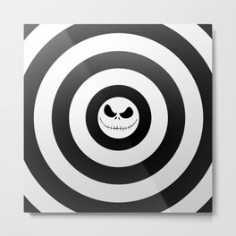 Jack Skellington Nightmare Before Christmas Metal Print