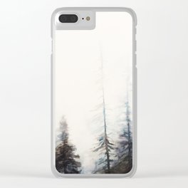 Watercolor tree tops Clear iPhone Case