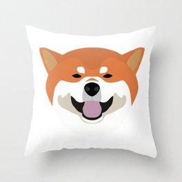 Shiba Inu Decal Throw Pillow