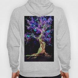 Wild Neon Apple Tree Watercolor by CheyAnne Sexton Hoody