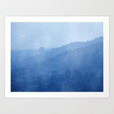 Blue Day LA Art Print