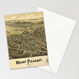 Aerial View of Mount Pleasant, Pennsylvania (1900) Stationery Cards