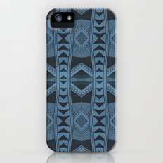 Blue Doodle Geometry  Slim Case iPhone (5, 5s)