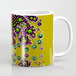 Fantasy flower peacock Mermaid with some soul in popart Coffee Mug