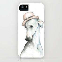 Bowler hat greyhound_ Illustrious dogs. iPhone Case