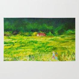 A Summer Walk In The Field Rug