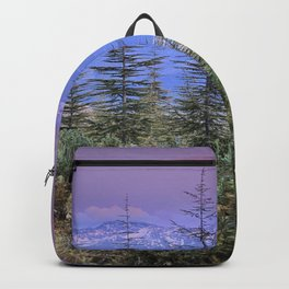 Sierra Nevada at sunset. Purple clouds Backpack