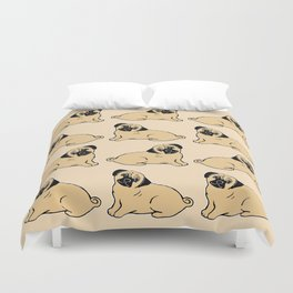 Pug Pattern Duvet Cover