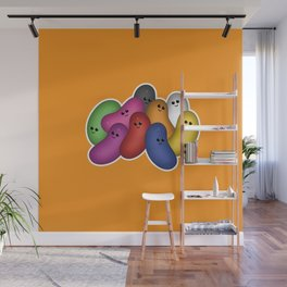 Happy Jelly Beans! (Orange) Wall Mural