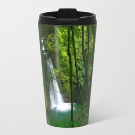 Waterfall in the Azores Travel Mug