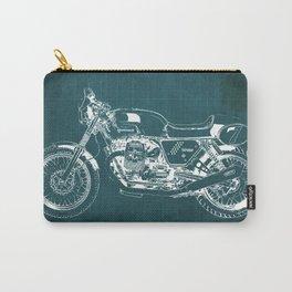 2010 Moto Guzzi V7 Clubman Racer green blueprint Carry-All Pouch