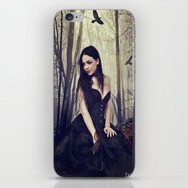 Cheeky gothic girl in the woods wildchilds asylum iPhone Skin
